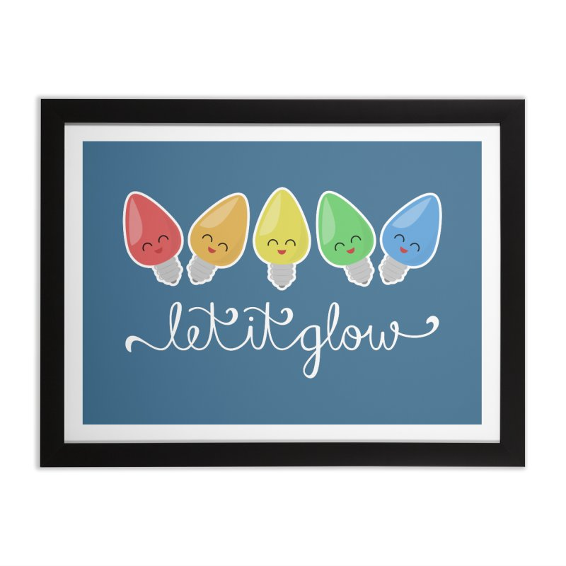 Let It Glow Home Framed Fine Art Print by Calobee Doodles