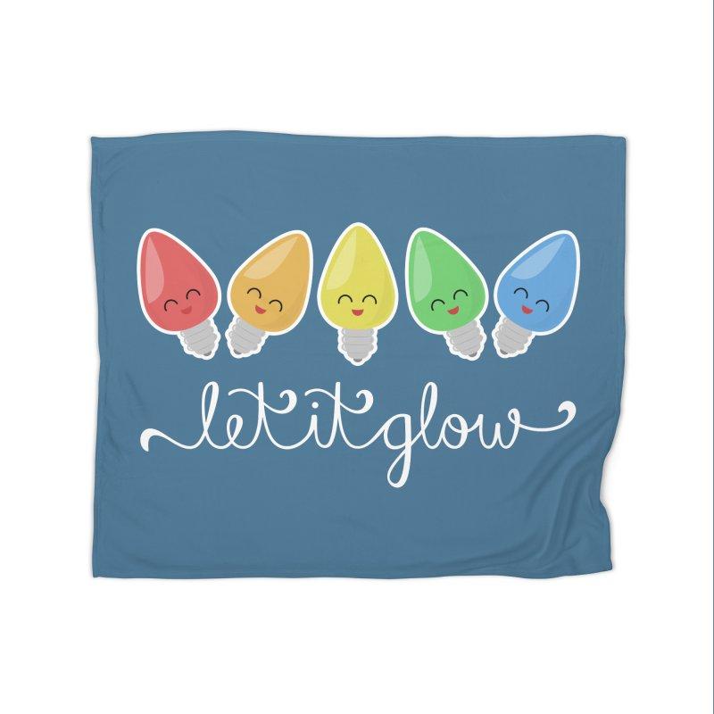 Let It Glow Home Blanket by Calobee Doodles