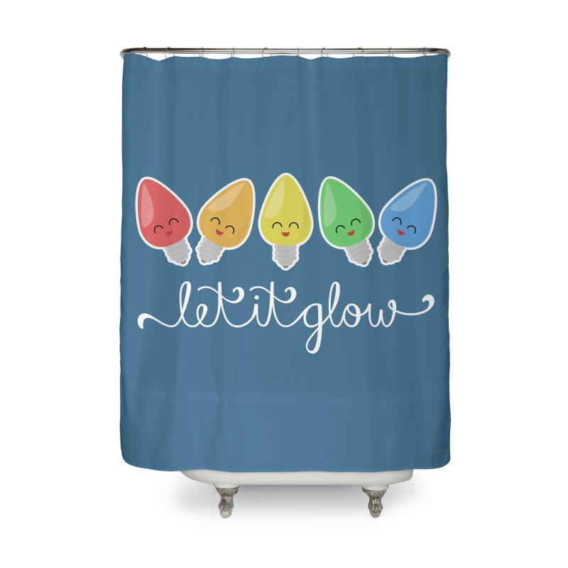 Let It Glow Home Shower Curtain by Calobee Doodles