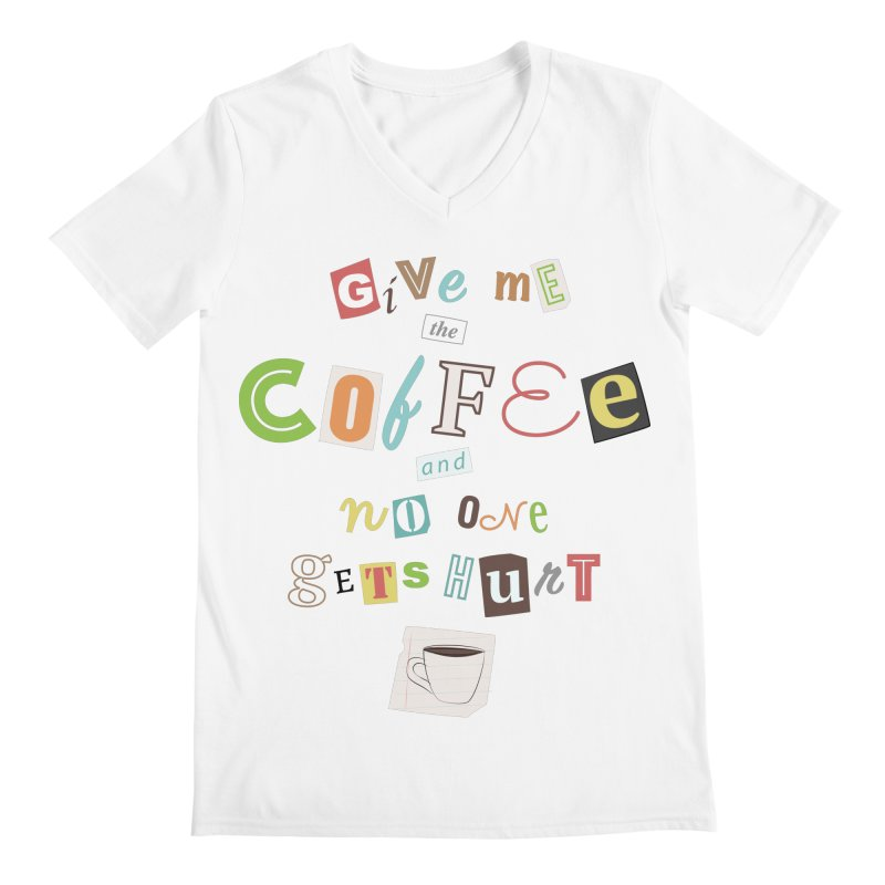 A Ransom Note for Morning - Light Men's V-Neck by Calobee Doodles