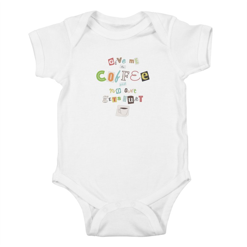 A Ransom Note for Morning - Light Kids Baby Bodysuit by Calobee Doodles