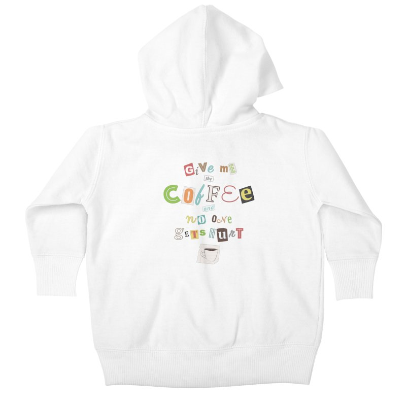 A Ransom Note for Morning - Light Kids Baby Zip-Up Hoody by Calobee Doodles
