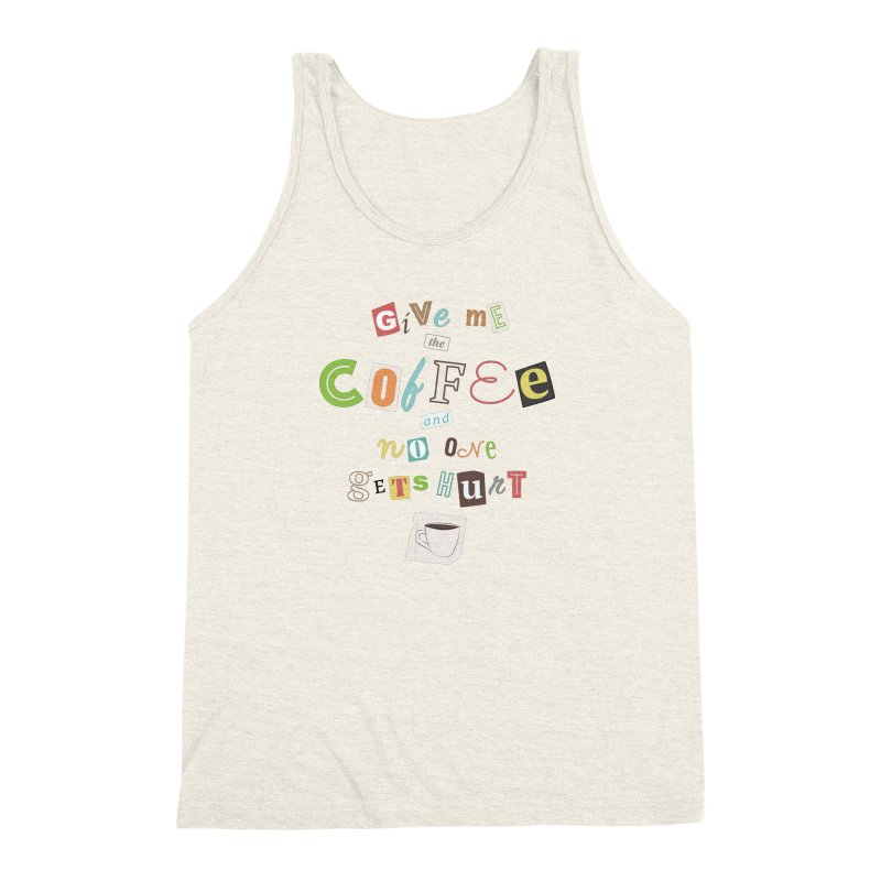 A Ransom Note for Morning - Light Men's Triblend Tank by Calobee Doodles