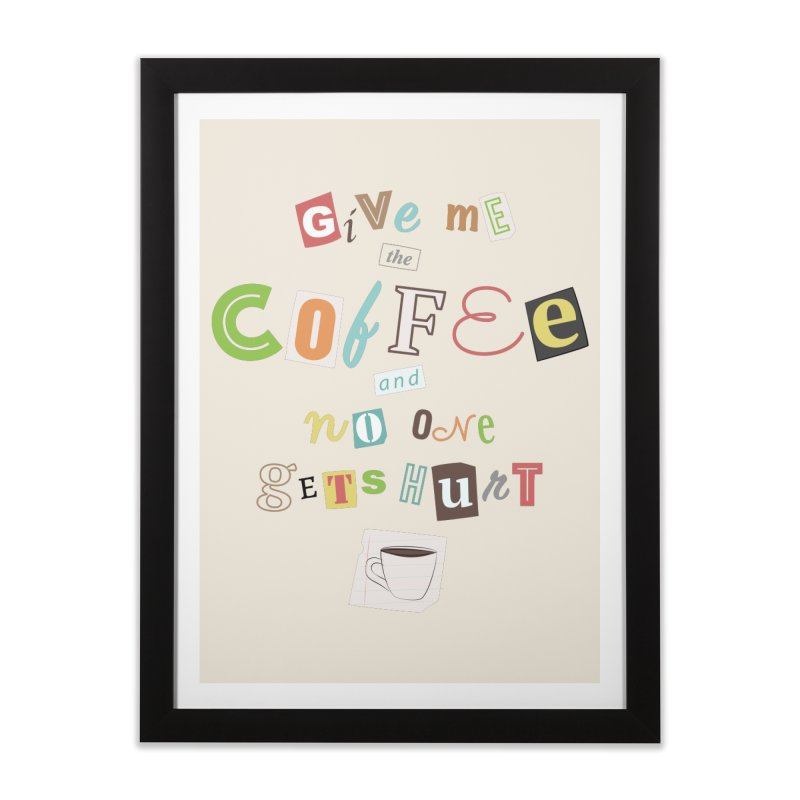 A Ransom Note for Morning - Light Home Framed Fine Art Print by Calobee Doodles