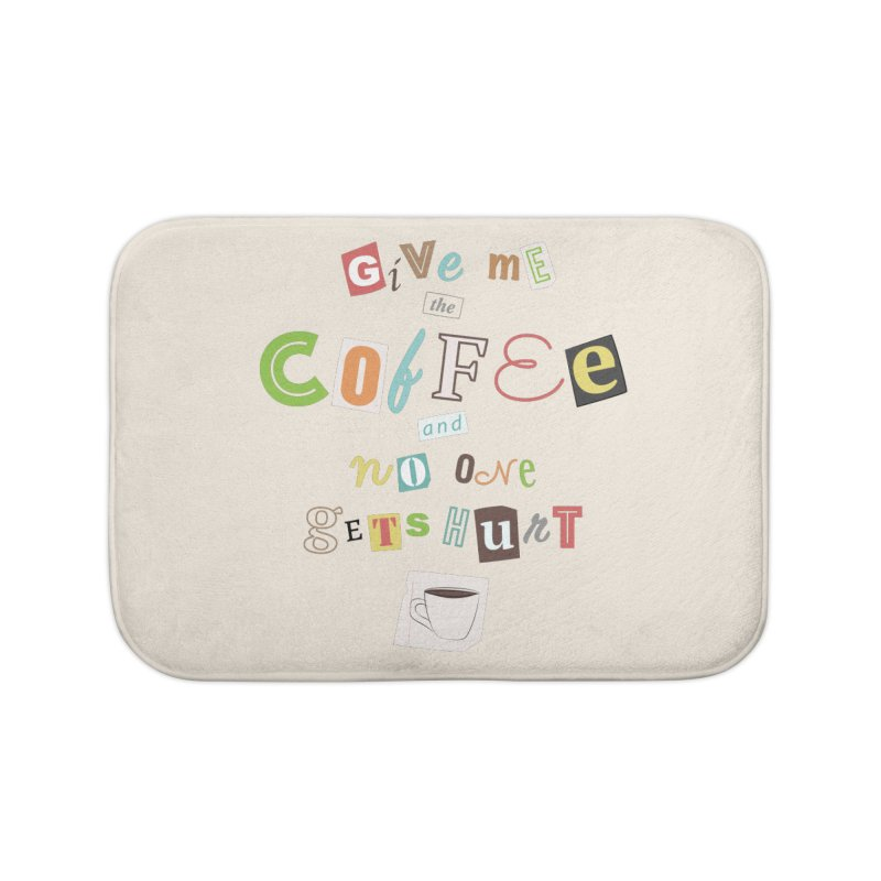 A Ransom Note for Morning - Light Home Bath Mat by Calobee Doodles