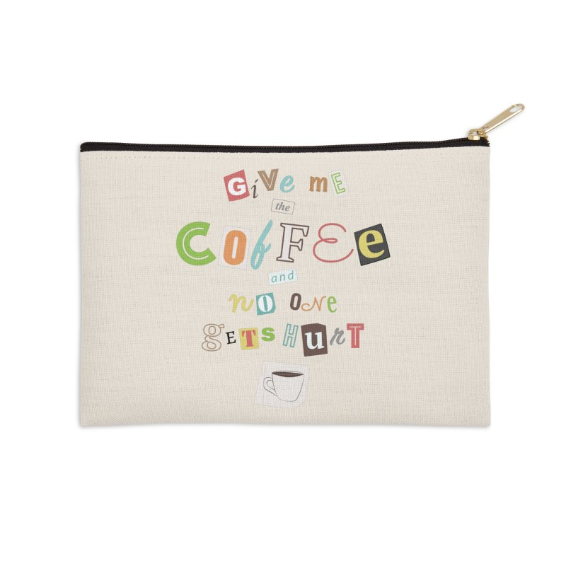 A Ransom Note for Morning - Light Accessories Zip Pouch by Calobee Doodles