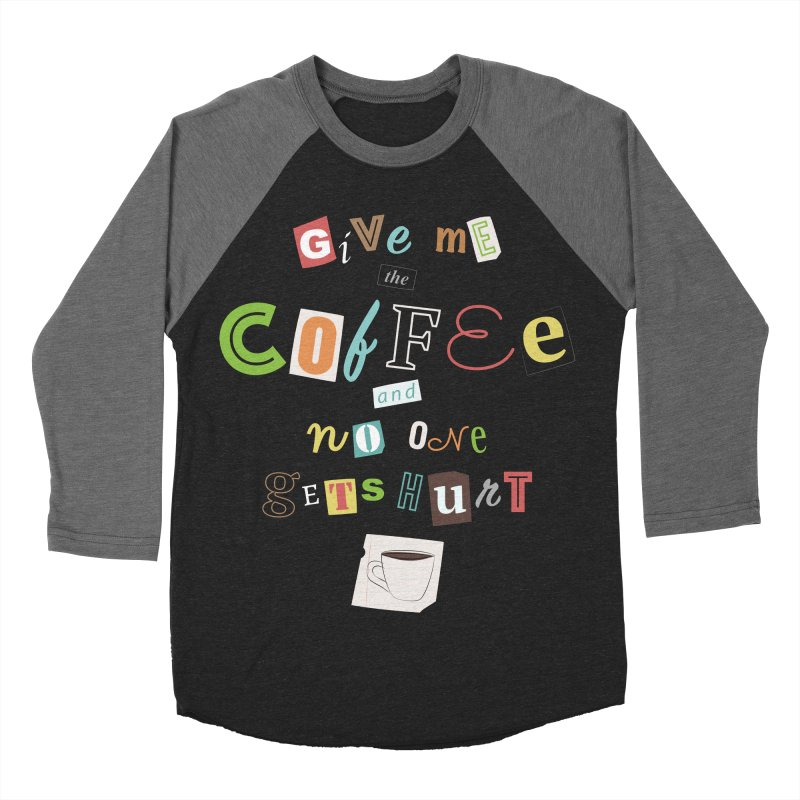 A Ransom Note for Morning - Dark Women's Baseball Triblend T-Shirt by Calobee Doodles