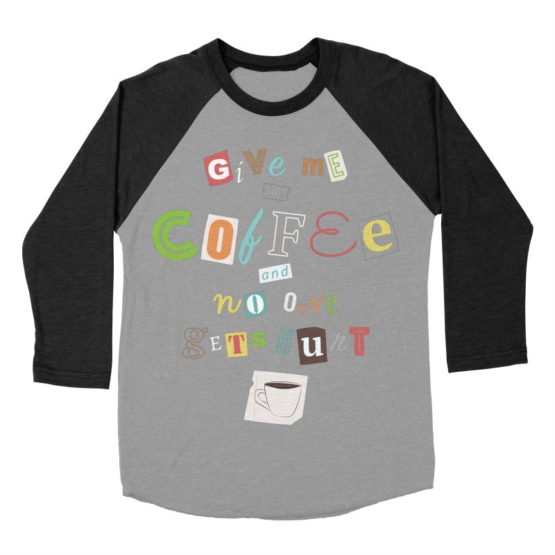 A Ransom Note for Morning - Dark Men's Baseball Triblend T-Shirt by Calobee Doodles