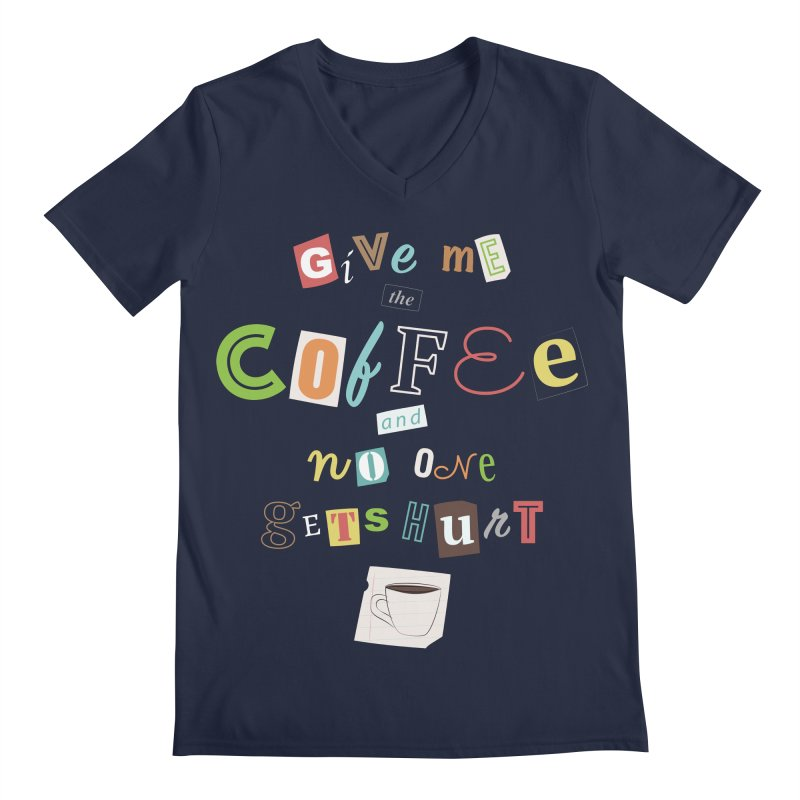 A Ransom Note for Morning - Dark Men's V-Neck by Calobee Doodles