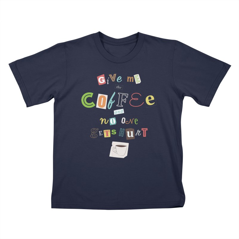 A Ransom Note for Morning - Dark Kids T-Shirt by Calobee Doodles