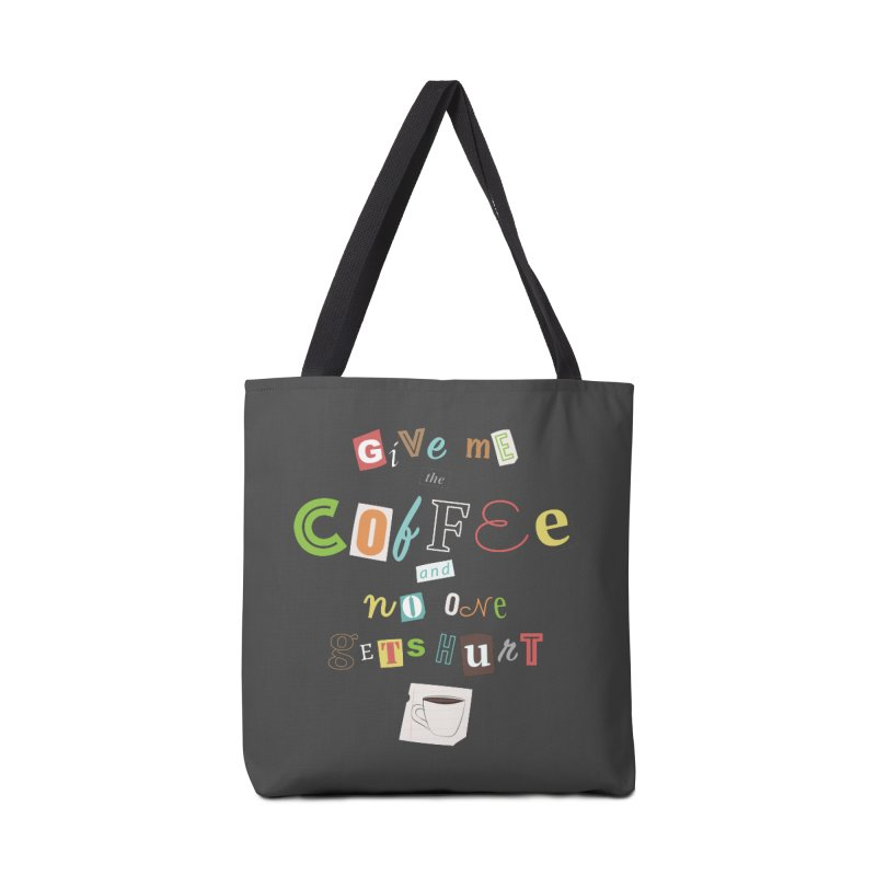 A Ransom Note for Morning - Dark Accessories Bag by Calobee Doodles