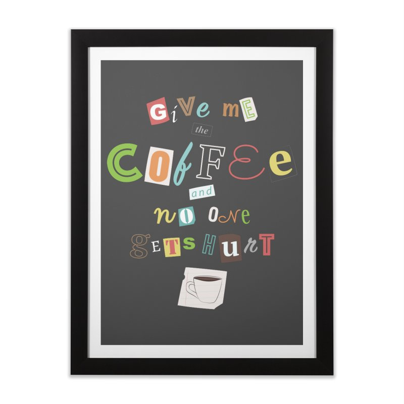 A Ransom Note for Morning - Dark Home Framed Fine Art Print by Calobee Doodles