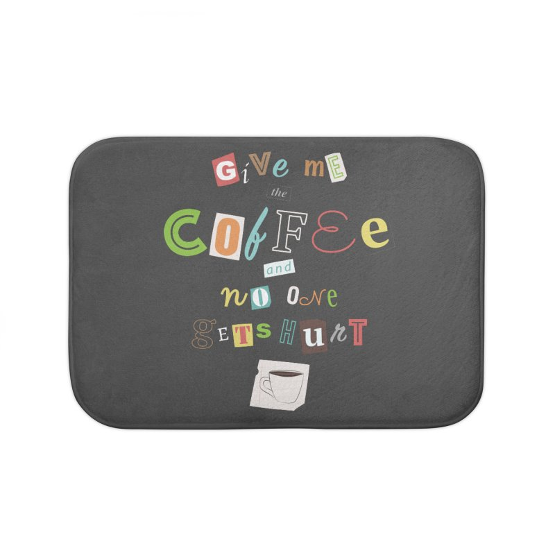 A Ransom Note for Morning - Dark Home Bath Mat by Calobee Doodles