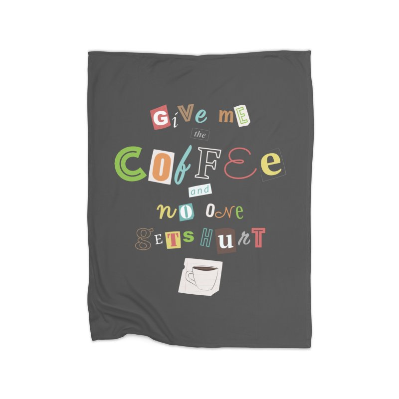 A Ransom Note for Morning - Dark Home Blanket by Calobee Doodles