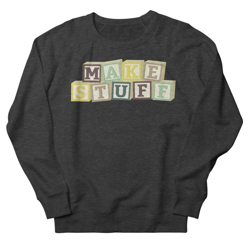 Make Stuff - Brown Men's Sweatshirt by Calobee Doodles