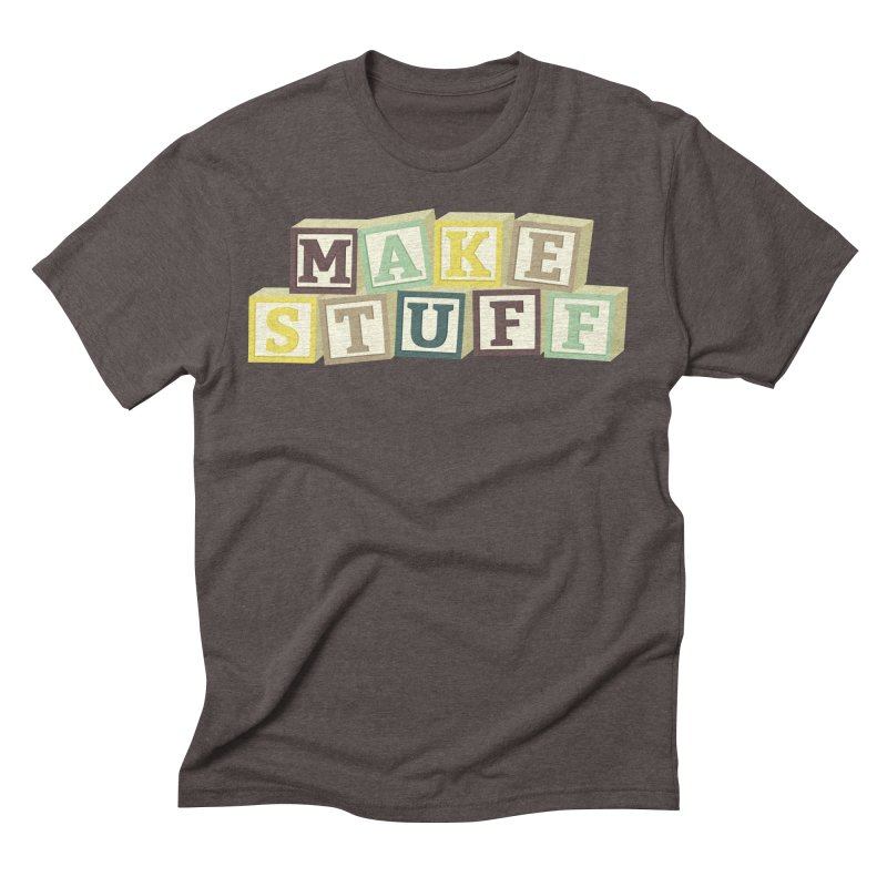 Make Stuff - Brown Men's Triblend T-Shirt by Calobee Doodles