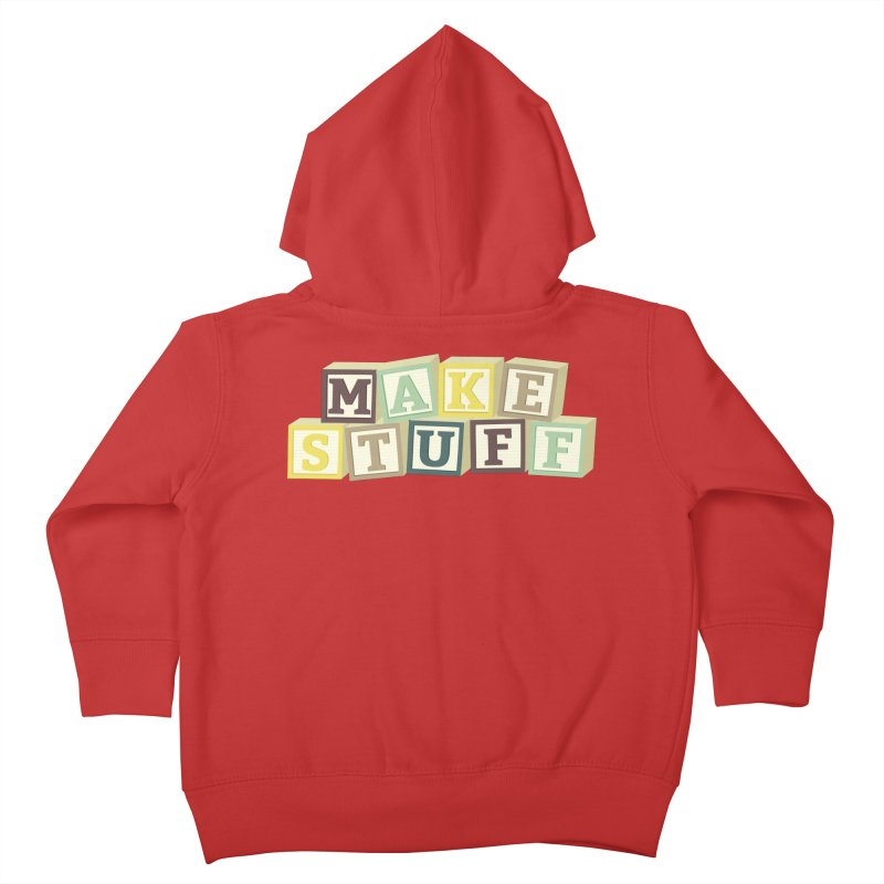 Make Stuff - Brown Kids Toddler Zip-Up Hoody by Calobee Doodles