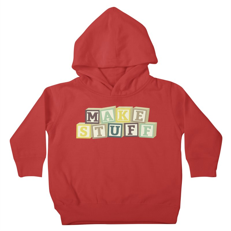 Make Stuff - Brown Kids Toddler Pullover Hoody by Calobee Doodles