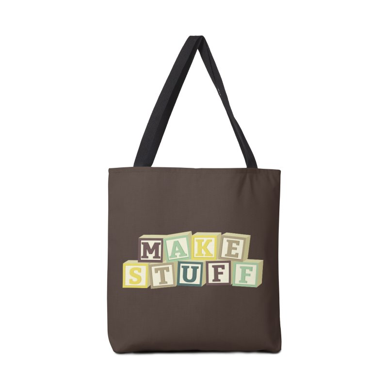 Make Stuff - Brown Accessories Bag by Calobee Doodles