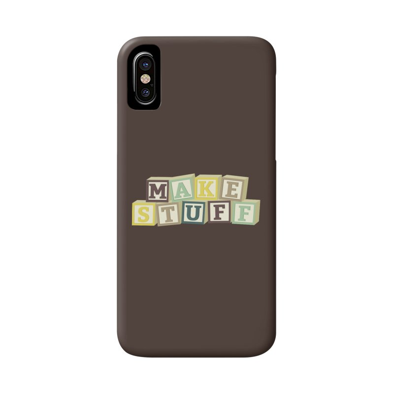 Make Stuff - Brown Accessories Phone Case by Calobee Doodles