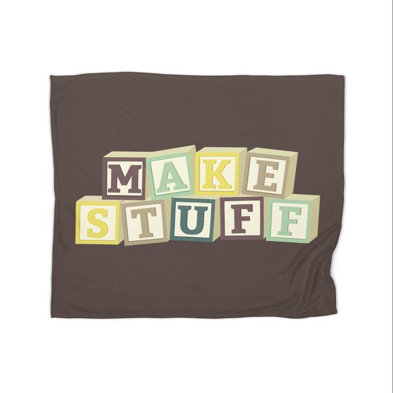 Make Stuff - Brown Home Blanket by Calobee Doodles
