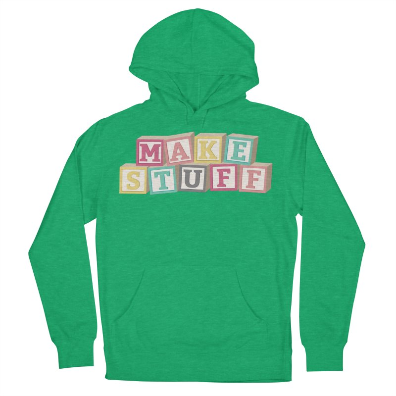 Make Stuff - Pink Men's Pullover Hoody by Calobee Doodles