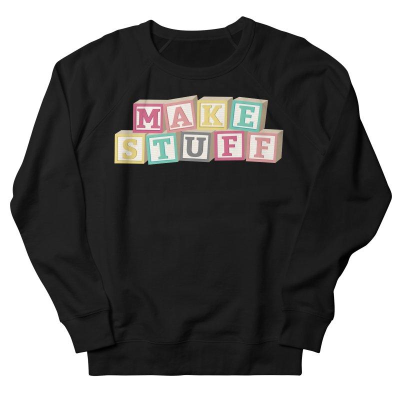Make Stuff - Pink Men's Sweatshirt by Calobee Doodles