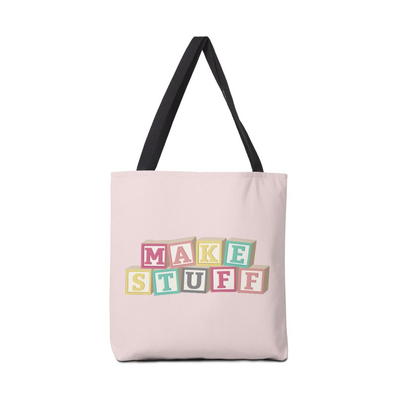 Make Stuff - Pink Accessories Bag by Calobee Doodles
