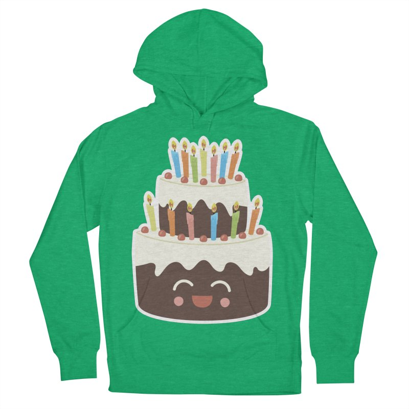 Happy Happy Birthday Cake in Chocolate Women's Pullover Hoody by Calobee Doodles