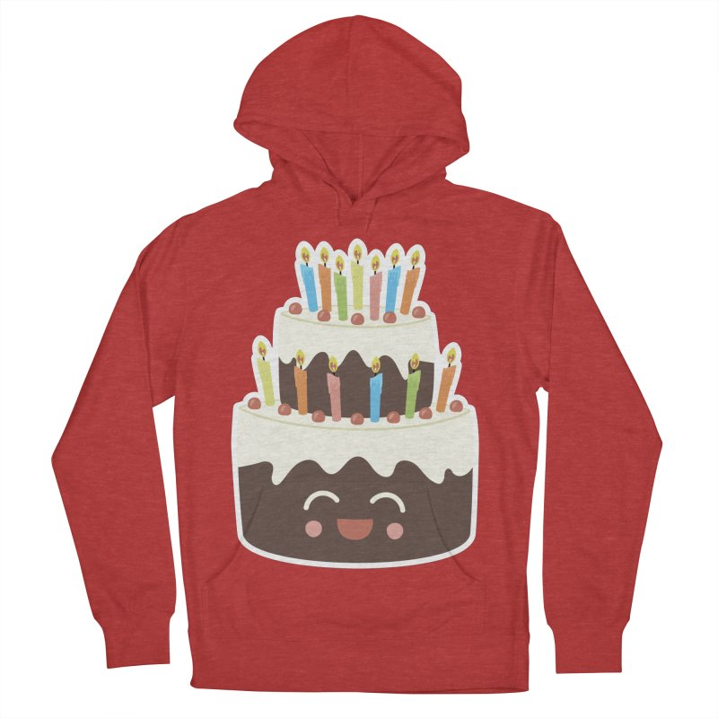 Happy Happy Birthday Cake in Chocolate Men's Pullover Hoody by Calobee Doodles