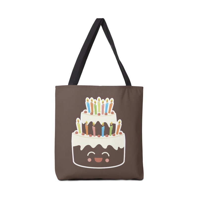 Happy Happy Birthday Cake in Chocolate Accessories Bag by Calobee Doodles