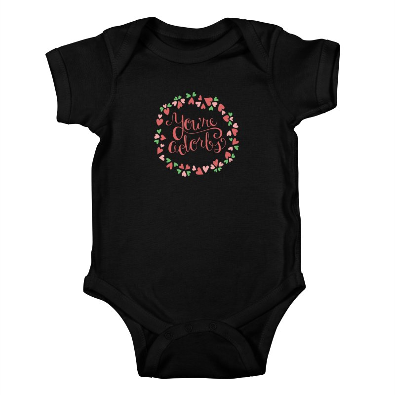 You're Adorbs - X-Files-Inspired Valentine Kids Baby Bodysuit by Calobee Doodles