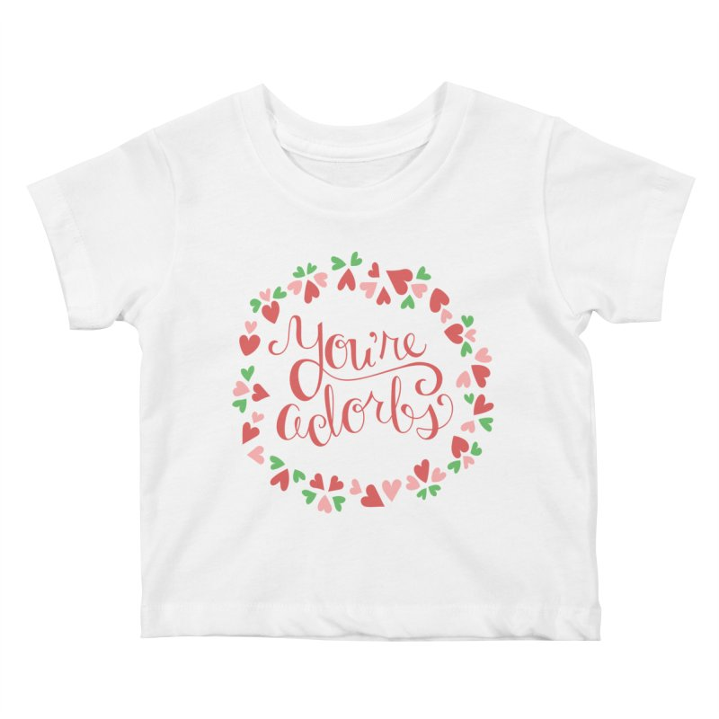 You're Adorbs - X-Files-Inspired Valentine Kids Baby T-Shirt by Calobee Doodles
