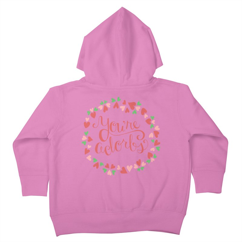 You're Adorbs - X-Files-Inspired Valentine Kids Toddler Zip-Up Hoody by Calobee Doodles