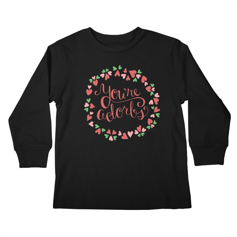 You're Adorbs - X-Files-Inspired Valentine Kids Longsleeve T-Shirt by Calobee Doodles