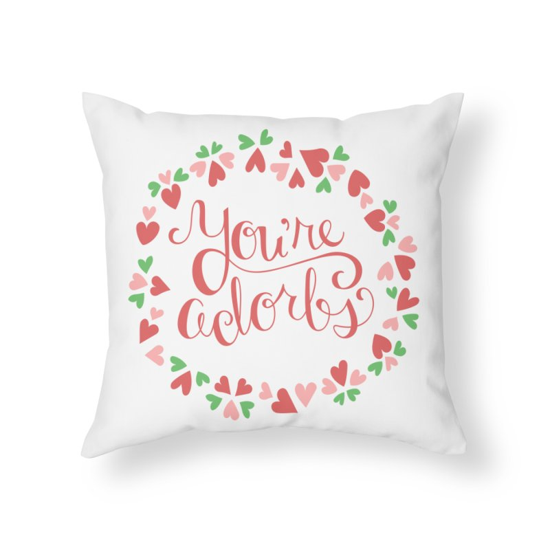 You're Adorbs - X-Files-Inspired Valentine Home Throw Pillow by Calobee Doodles