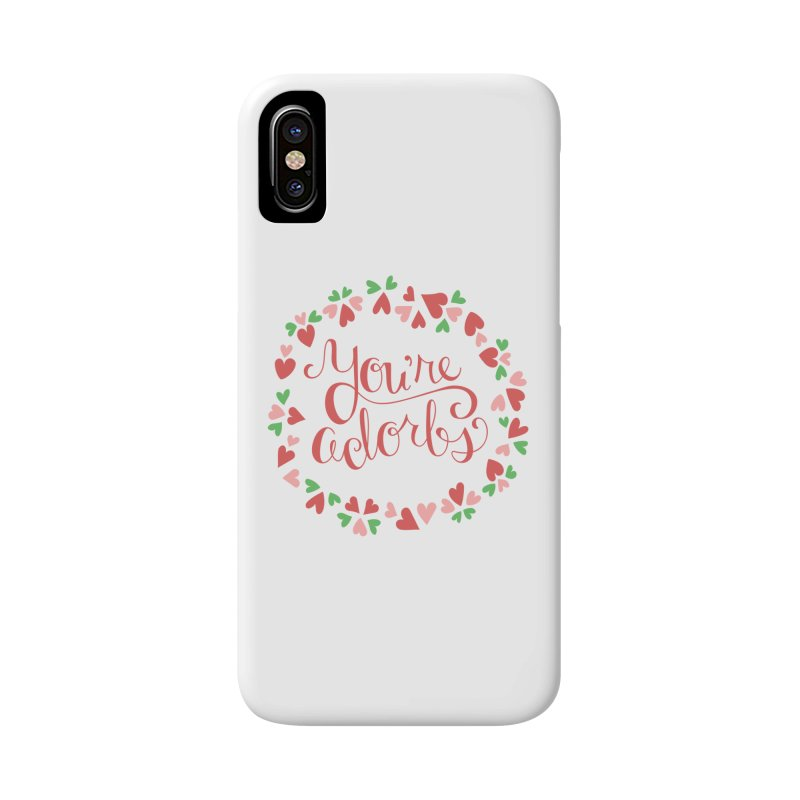 You're Adorbs - X-Files-Inspired Valentine Accessories Phone Case by Calobee Doodles