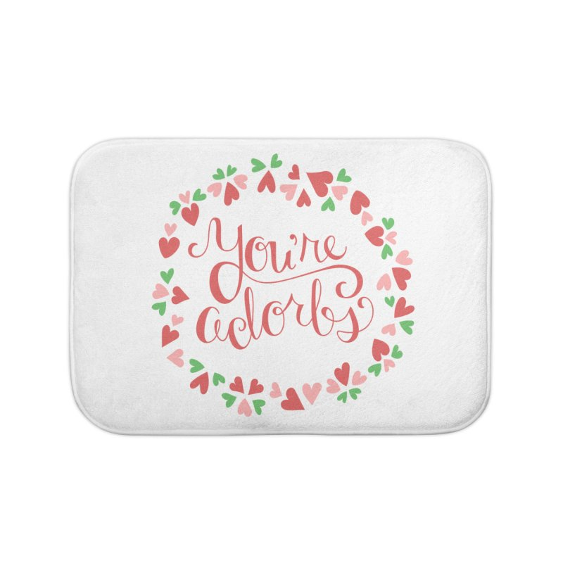 You're Adorbs - X-Files-Inspired Valentine Home Bath Mat by Calobee Doodles