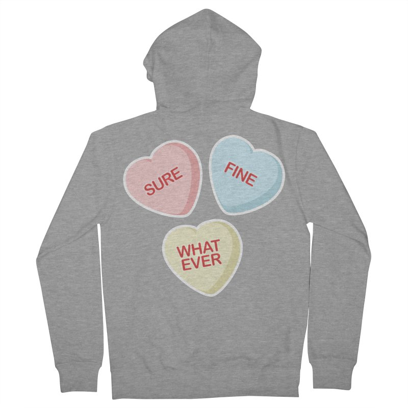Sure, Fine, Whatever - I'll be your Valentine Men's Zip-Up Hoody by Calobee Doodles