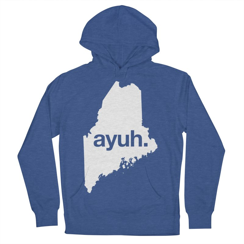 Ayuh - The Maine Word Men's Pullover Hoody by Calobee Doodles