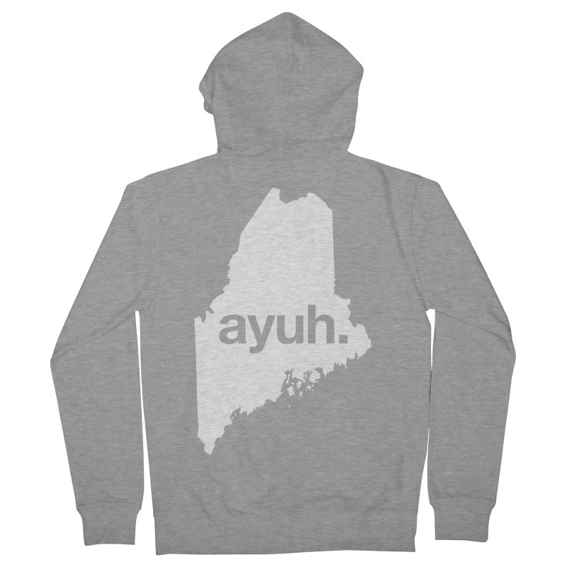 Ayuh - The Maine Word Women's Zip-Up Hoody by Calobee Doodles