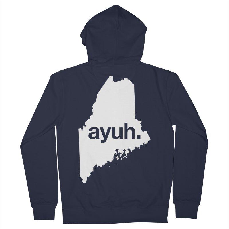 Ayuh - The Maine Word Women's Zip-Up Hoody by Calobee Doodles