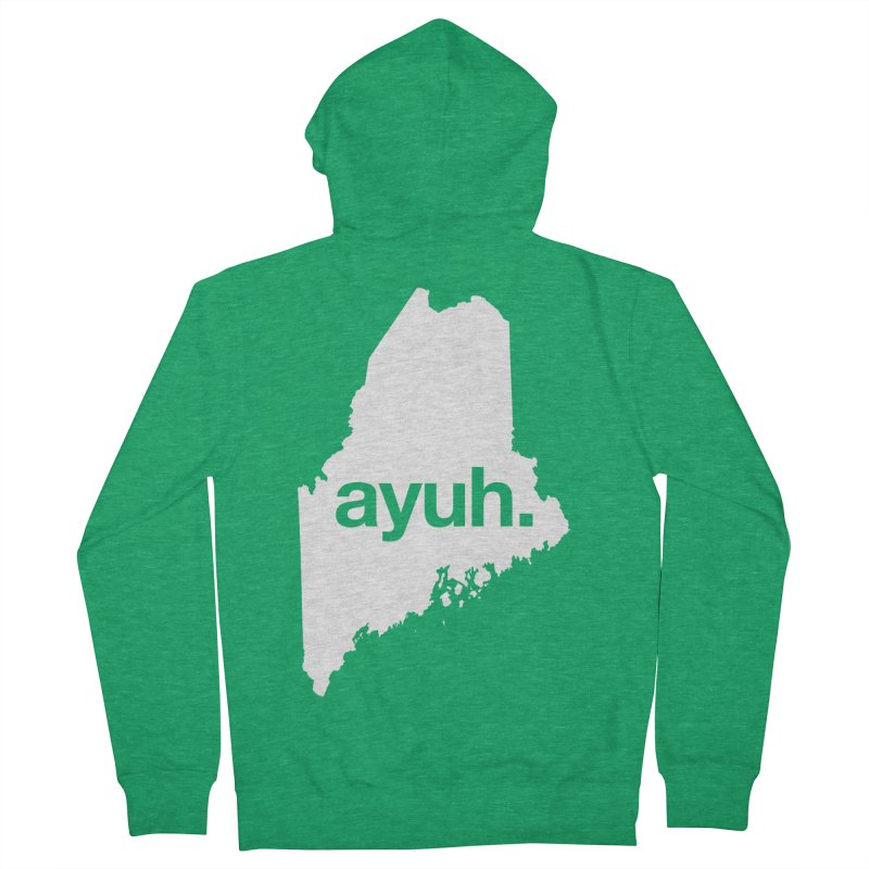 Ayuh - The Maine Word Men's Zip-Up Hoody by Calobee Doodles