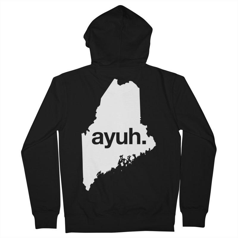 Ayuh - The Maine Word Men's Zip-Up Hoody by Calobee Doodles