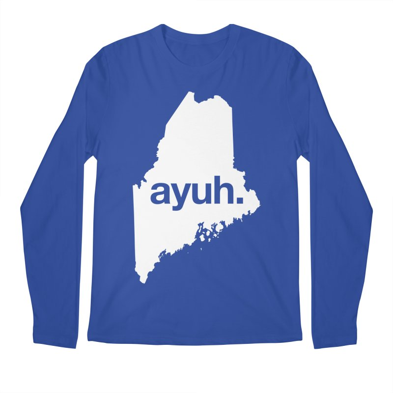 Ayuh - The Maine Word Men's Longsleeve T-Shirt by Calobee Doodles