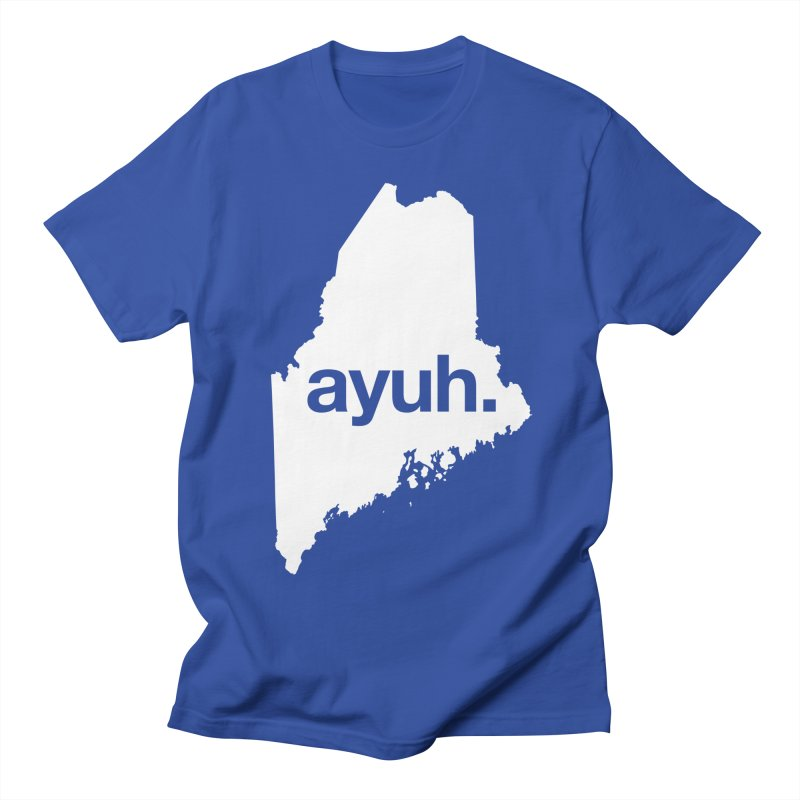 Ayuh - The Maine Word Men's T-Shirt by Calobee Doodles