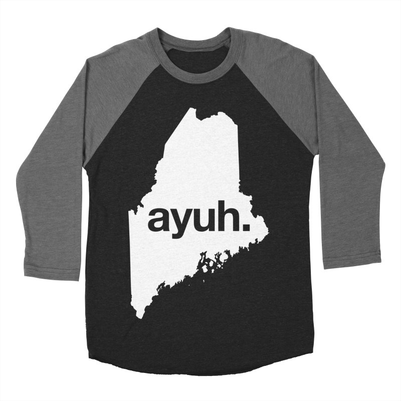 Ayuh - The Maine Word Women's Baseball Triblend T-Shirt by Calobee Doodles