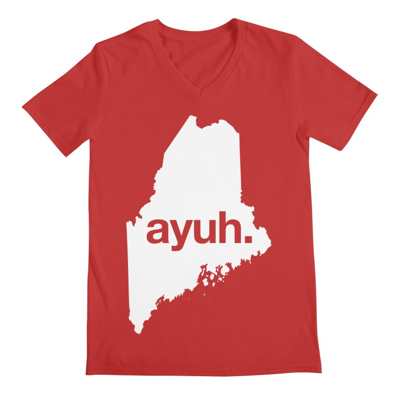Ayuh - The Maine Word Men's V-Neck by Calobee Doodles