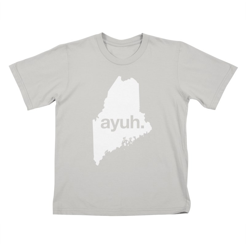 Ayuh - The Maine Word Kids T-Shirt by Calobee Doodles