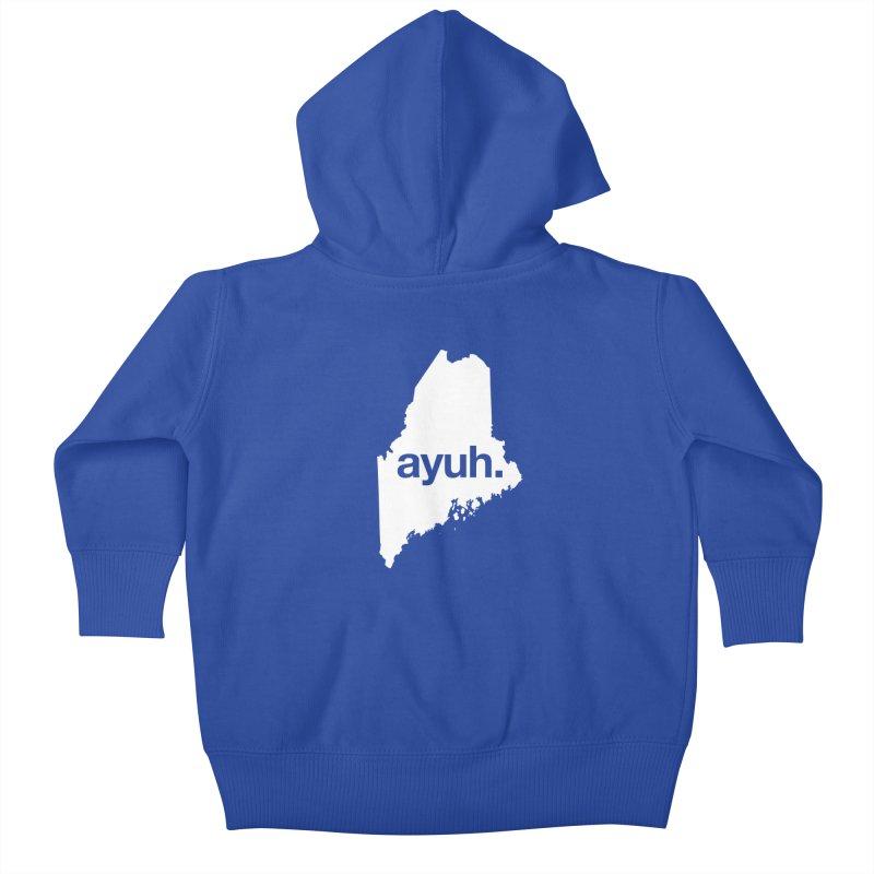 Ayuh - The Maine Word Kids Baby Zip-Up Hoody by Calobee Doodles